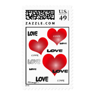 Love Hearts Postage