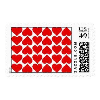 Love hearts postage
