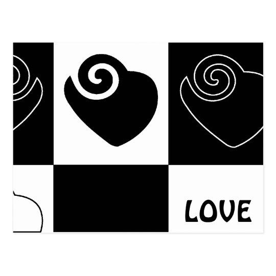 LOVE Hearts Postcard