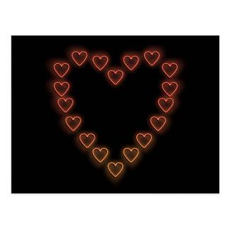 Love hearts. postcard