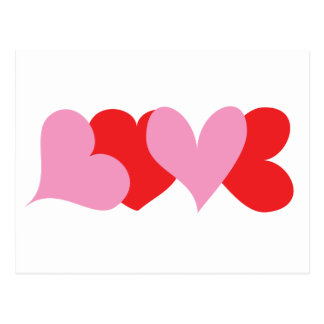 LOVE Hearts Postcard