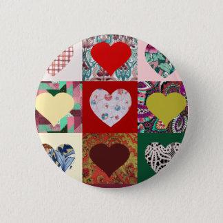 Love Hearts Quilt Button