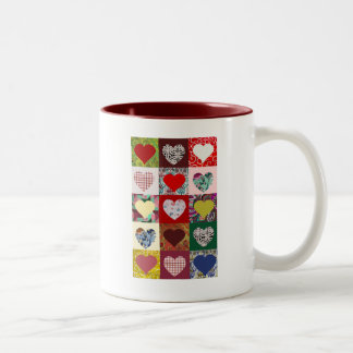 Love Hearts Quilt Mugs