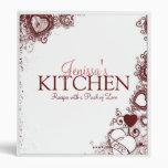 Love & Hearts Recipe Binder