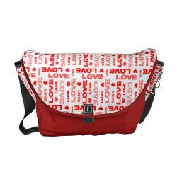 Love Hearts Red rickshawmessengerbag