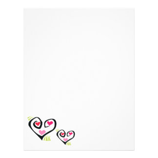 Love Hearts Stationery Letterhead