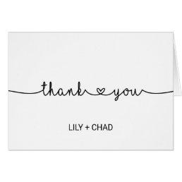 Love Hearts Thank You Card