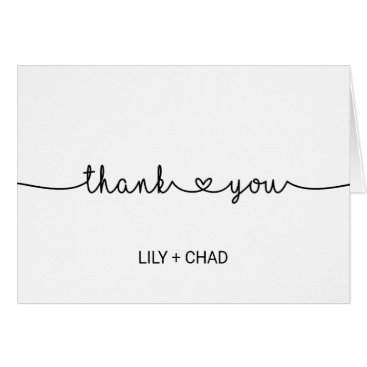 Toddler & Baby themed Love Hearts Thank You Card