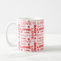 Love hearts Valentine's Day mug