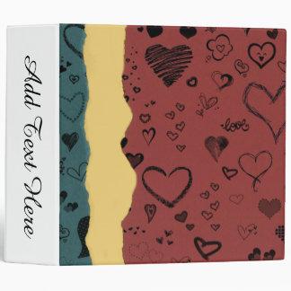 Love Hearts Vinyl Binder