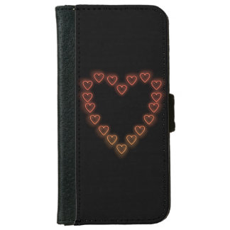 Love hearts. wallet phone case for iPhone 6/6s