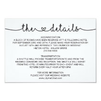 Love Hearts Wedding Details Card