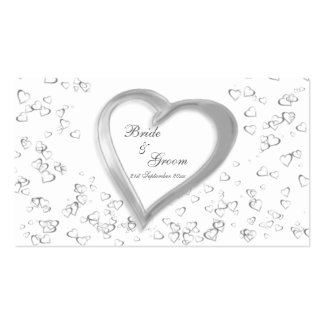 Love Hearts Wedding Guest Book Cards Business Cards
