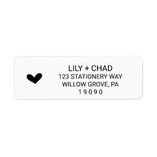Love Hearts Wedding Label