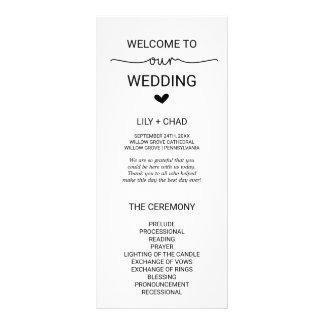 Love Hearts Wedding Program