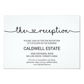 Love Hearts Wedding Reception Insert Invitation
