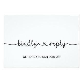 Love Hearts Wedding Website RSVP Invitation