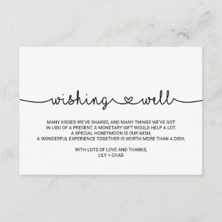 Love Hearts Wedding Wishing Well Enclosure Card