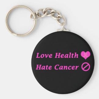 Love Heath, Hate Breast Cancer Charity Design Basic Round Button Keychain