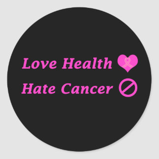 Love Heath, Hate Breast Cancer Charity Design Classic Round Sticker