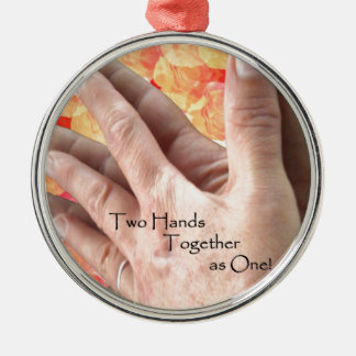 Love held with Hands! Metal Ornament