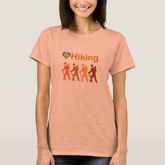 Love Hiking+Heart-multi-colored T-Shirt