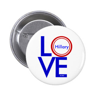 LOVE HILLARY Buttons by GrassrootsDesigns4u
