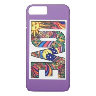LOVE Hippie Style iPhone 7 Plus, Barely There iPhone 7 Plus Case