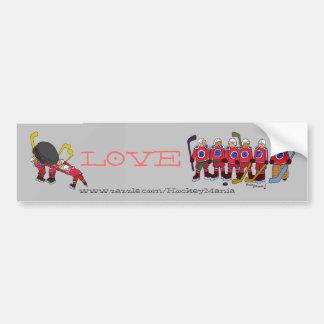 Love Hockey Bumper Sticker