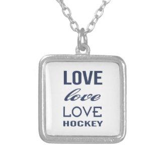 Love Hockey Necklace
