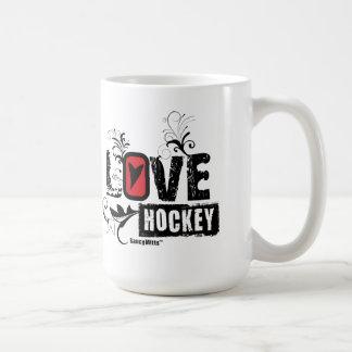 Love Hockey Swirl Mug