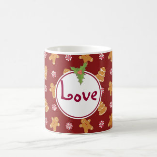 Love Holiday Christmas Gingerbread Cookie Mug