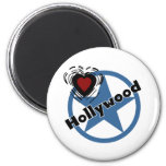Love Hollywood 2 Inch Round Magnet