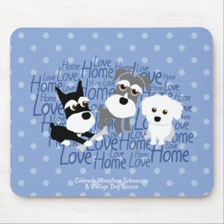 Love, Home - Custom Schnauzer Mouse Pad