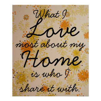 Love Home Family Poster