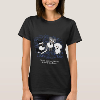 Love, Home - Schnauzer Dark T-Shirt (Women)