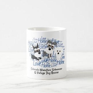 Love, Home - Schnauzer White Mug