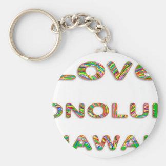 LOVE Honolulu Hawaii Key Chains