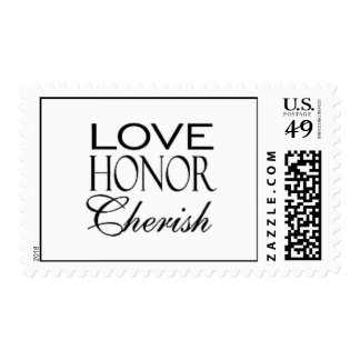 Love Honor Cherish Stamps