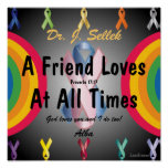 Love Honors Friendship Poster-Customize