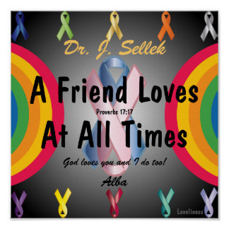 Love Honors Friendship Poster-Customize Poster