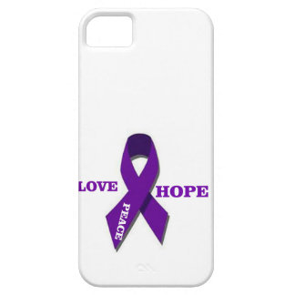 Love Hope And Peace Purple Ribbon iPhone SE/5/5s Case