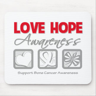 Love Hope Awareness Bone Cancer Mousepad