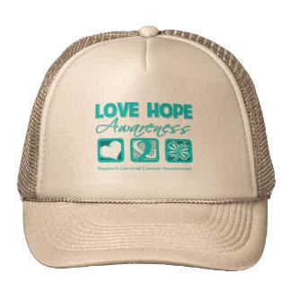 Love Hope Awareness Cervical Cancer Hat