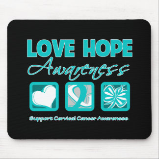 Love Hope Awareness Cervical Cancer Mouse Pads