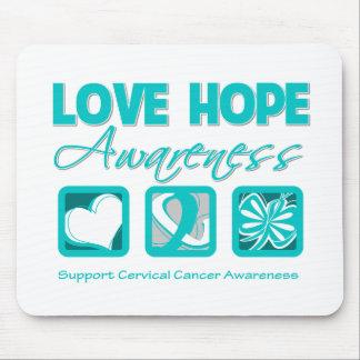 Love Hope Awareness Cervical Cancer Mousepads