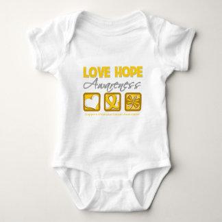Love Hope Awareness Childhood Cancer Baby Bodysuit