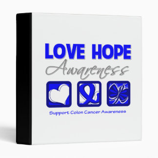 Love Hope Awareness Colon Cancer Binder