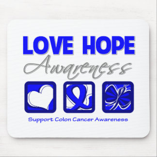 Love Hope Awareness Colon Cancer Mouse Pad