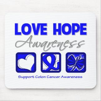 Love Hope Awareness Colon Cancer Mousepads